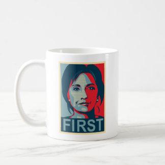 Taza De Café Primer presidente de sexo femenino Hillary Clinton