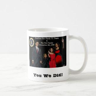 Taza De Café Primera familia de presidente electo Obama
