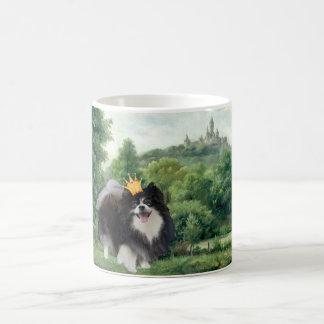Taza De Café Príncipe negro de Pomeranian