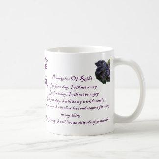 Taza De Café Principios de Reiki apenas para hoy