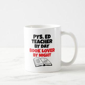 Taza De Café Profesor de Phys Ed del aficionado a los libros