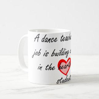 Taza De Café Profesor de sexo masculino de la danza - confianza