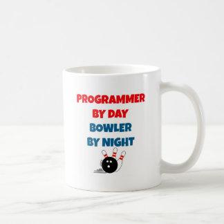 Taza De Café Programador por el jugador de bolos del día por