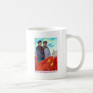 Taza De Café Propaganda original Mao Zedong y Joseph Stalin