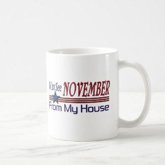 Taza De Café Puedo ver noviembre de mi casa
