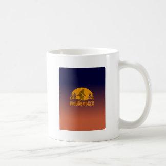 Taza De Café Puesta del sol del vintage de Woodbooger