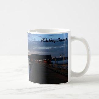 Taza De Café Puesta del sol en la isla de Whidbey, Coupeville,