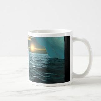 Taza De Café Puesta del sol sobre el hielo