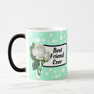 Taza de café punteada polca siempre verde del