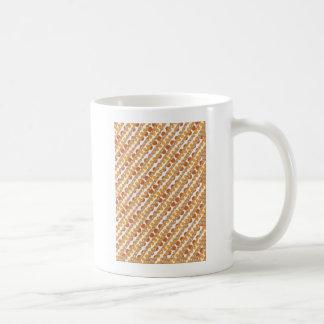 Taza De Café PUNTOS de oro de oro de las RAYAS n Brown. REGALOS
