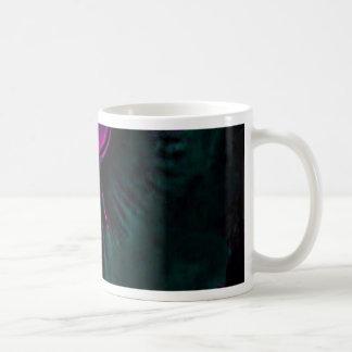 Taza De Café Púrpura angelical y trullo del guarda