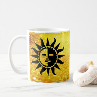 Taza De Café Purpurina de oro y Zuni Sun