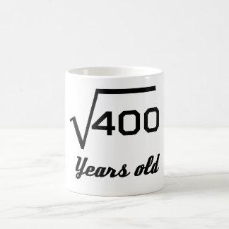 Taza De Café Raíz cuadrada de 400 20 años