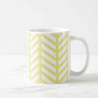 Taza De Café raspa de arenque amarilla
