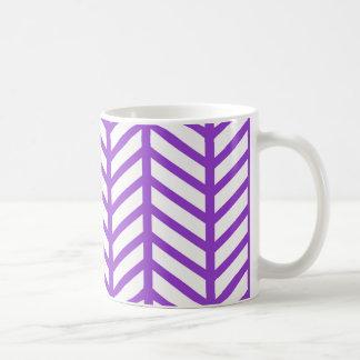 Taza De Café Raya púrpura del enrejado