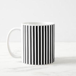 Taza De Café Rayas blancos y negros verticales