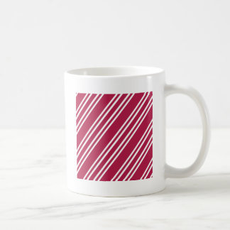 Taza De Café Rayas del rosa color de rosa w/White