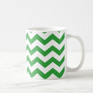 Taza De Café rayas verdes del galón