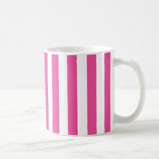 Taza De Café Rayas verticales rosadas