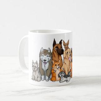 Taza De Café Razas lindas del perro