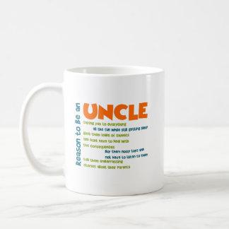 Taza De Café Razón para ser un tío Orange Blue y palabras del