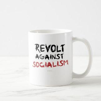 Taza De Café Rebelión contra drinkware del socialismo