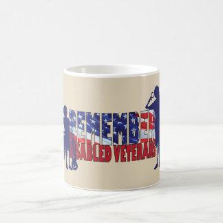 Taza De Café RECUERDE a nuestros veteranos discapacitados