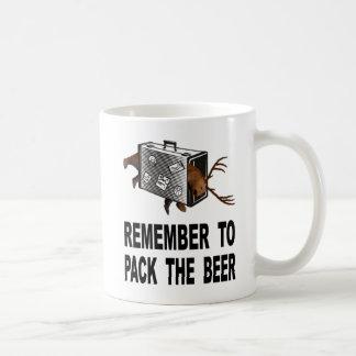 Taza De Café Recuerde embalar la cerveza