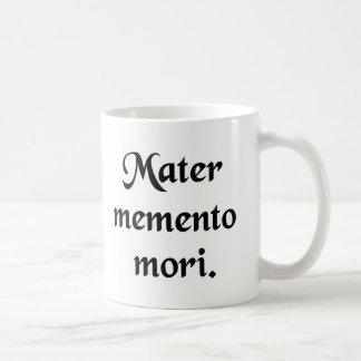 Taza De Café Recuerde su mortalidad