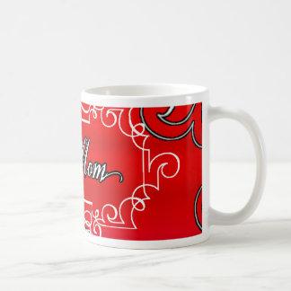 Taza De Café Regalo rojo de la tipografía del día de madre de