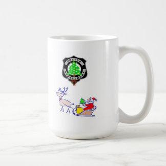 Taza De Café Regalos de la policía del navidad