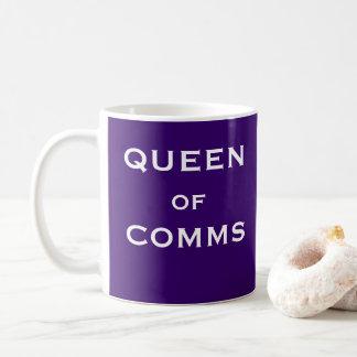 Taza De Café Reina de las comunicaciones principales femeninas