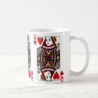 Taza De Café Reina del naipe de los corazones