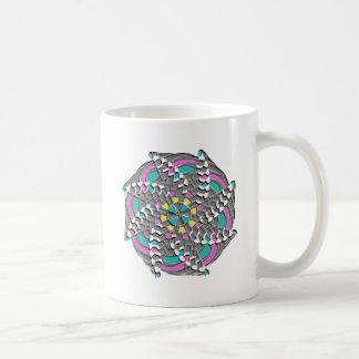 Taza De Café Remolino geométrico colorido -