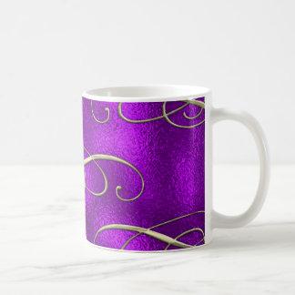 Taza De Café Remolinos románticos del navidad de la lila