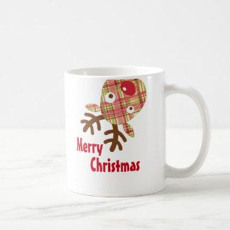 Taza De Café Reno caprichoso de las Felices Navidad