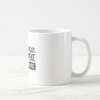 Taza De Café Repetición de la acción de gracias
