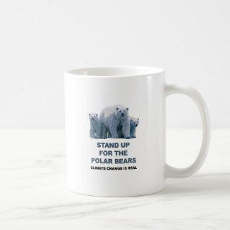 Taza De Café Represente para arriba los osos polares