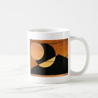 Taza De Café Resplandor de los planetas, negro y cobre, diseño