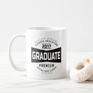 Taza de café retra del regalo del vintage graduado
