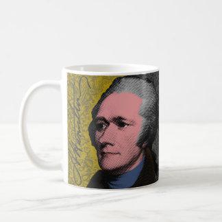 Taza De Café Retrato del arte pop de Alexander Hamilton