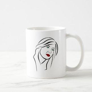 Taza De Café Retrato femenino