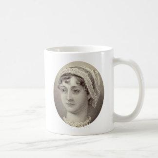 Taza De Café Retrato y cita de Jane Austen… nada pero té
