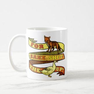 Taza De Café Retruécano divertido del animal del pato del Fox