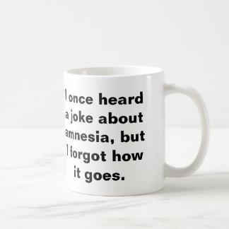 Taza De Café Retruécano divertido sobre amnesia