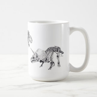 Taza De Café Rex y Triceratops del Tyrannosaurus