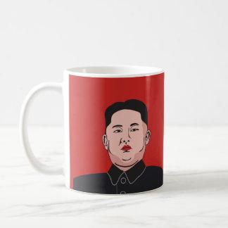Taza De Café Risa y la Jong-O.N.U seria de Kim - dos imágenes