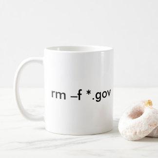 Taza De Café rm - f *.gov --Suprima todos los ficheros del
