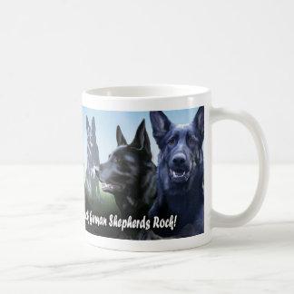 Taza De Café Roca negra de los pastores alemanes