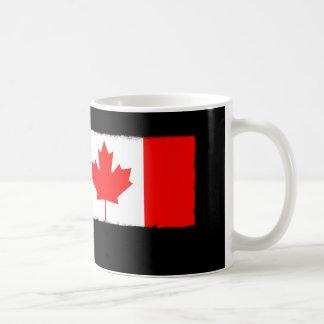 Taza De Café Rodillo de pintura canadiense de la bandera